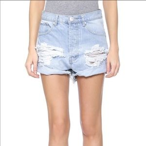 ONE TEASPOON outlaws distressed high rise denim